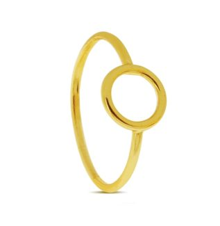 Anillo círculo plata bañada en oro