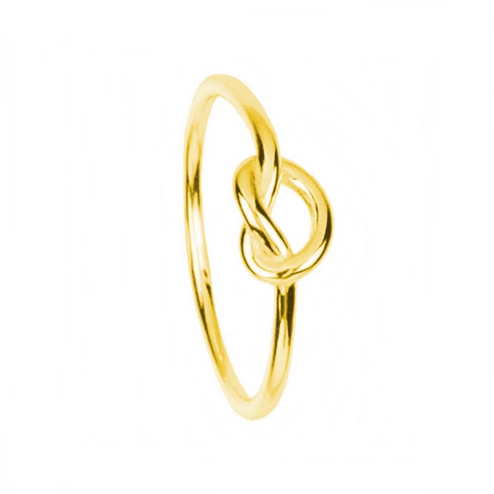 Anillo nudo plata bañada en oro