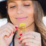 Anillo laurel, anillo nudo, anillo triangulo, anillo turquesa y anillo luna invertida en plata