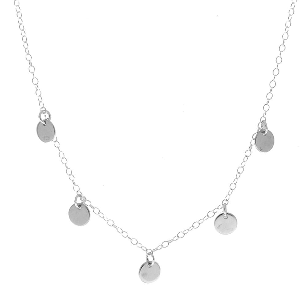 revisa 97885 0a070 Collar 5 medallitas en plata de primera ley