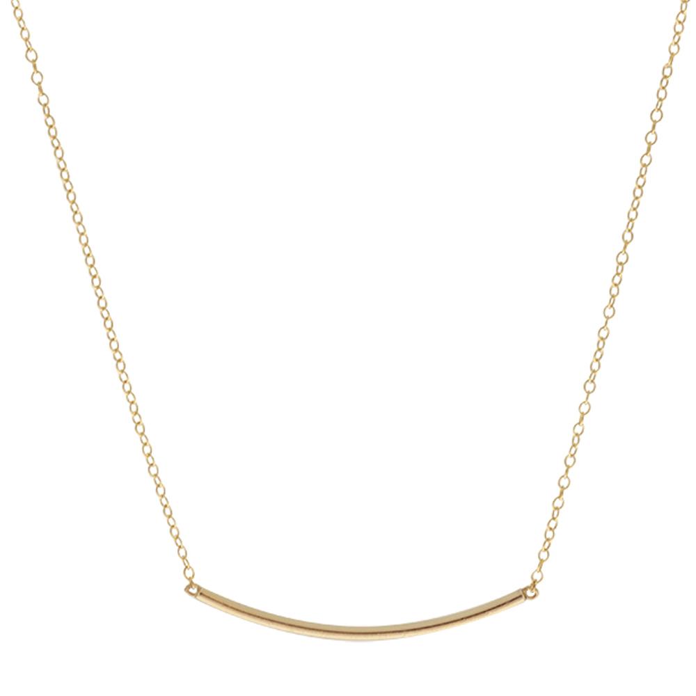 Collar barra plata bañada en oro
