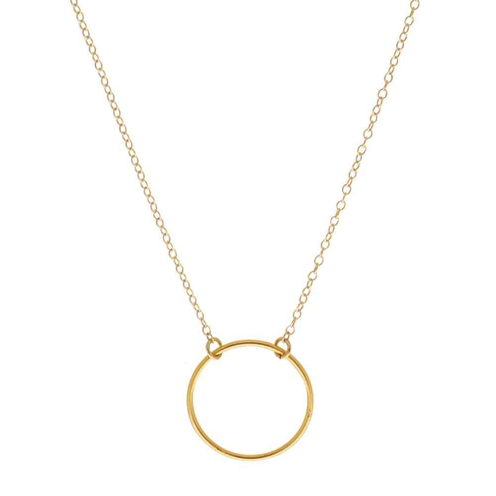 Collar círculo plata bañada en oro