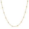 Collar cadena con bolitas plata bañada en oro