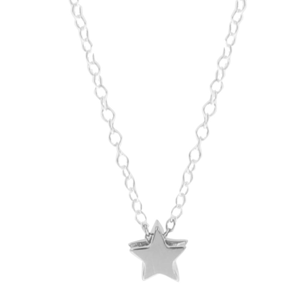Collar estrella en plata de primera ley