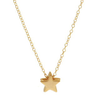 Collar estrella plata bañada en oro