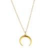 Collar luna invertida plata bañada en oro
