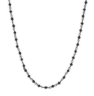 Collar rosario piedra semipreciosa en plata oxidada