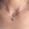 Collar mundo 12mm, collar cubitos y collar bola diamantada y piedra en plata