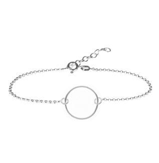 Pulsera círculo en plata de primera ley