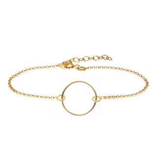 Pulsera círculo plata bañada en oro