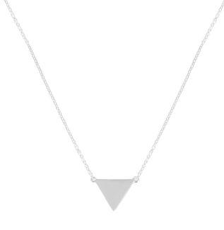 Collar triángulo en plata de ley