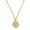 Collar placa con inicial plata bañada en oro
