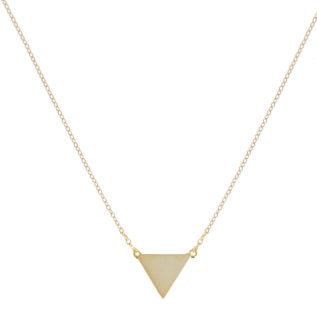 Collar triángulo plata bañada en oro