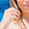 Anillo barra, anillo laurel y anillo circulo en plata