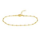 Pulsera cadena con cubitos plata bañada en oro