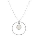 Collar de círculo en plata y piedra semipreciosa