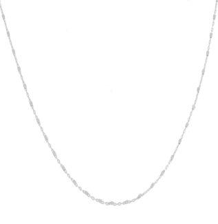Collar cadena con cubitos en plata