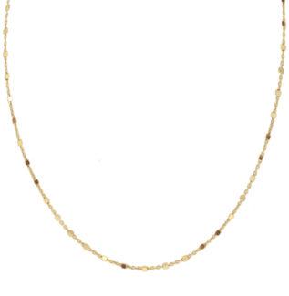 Collar cadena con cubitos plata bañada en oro