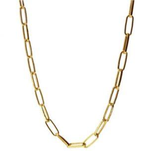 Collar choker eslabón plata bañada en oro