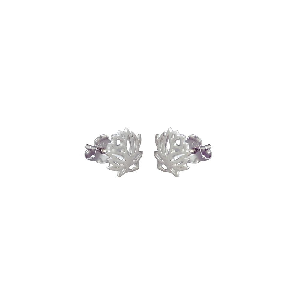 Pendientes flor de loto en plata