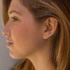 Ear cuff 2 barras cruzadas y trepadores triangulo en plata