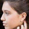 Pendientes ear cuff doble gota plata bañada en oro