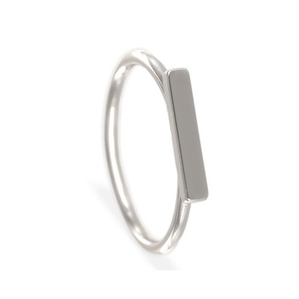 Anillo barra horizontal en plata