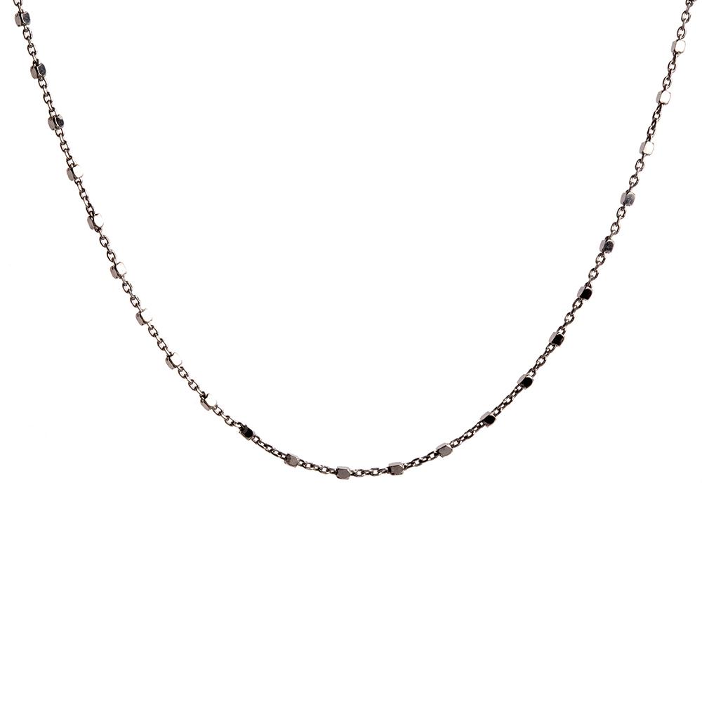 Collar cadena con cubitos en plata negra
