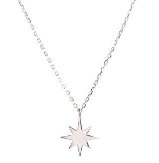 Collar estrella polar pequeña en plata