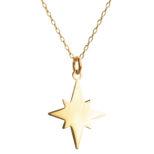 Collar estrella polar plata bañada en oro