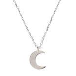 Collar luna en plata de primera ley
