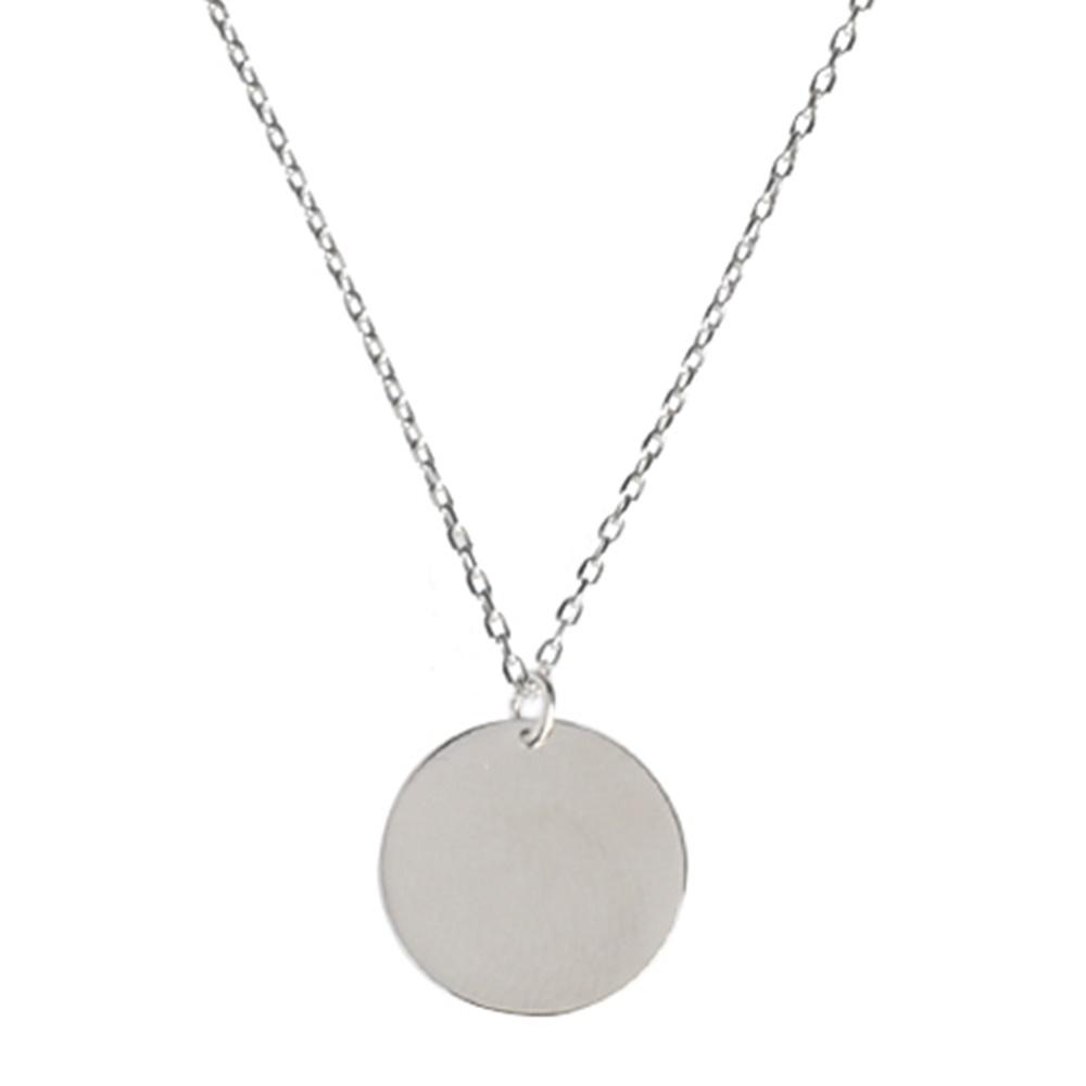 Collar luna llena en plata de primera ley