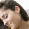 Pendientes aro con estrella polar zirconita, pendientes ear cuff zirconitas, ear cuff 2 barras plata bañada en oro
