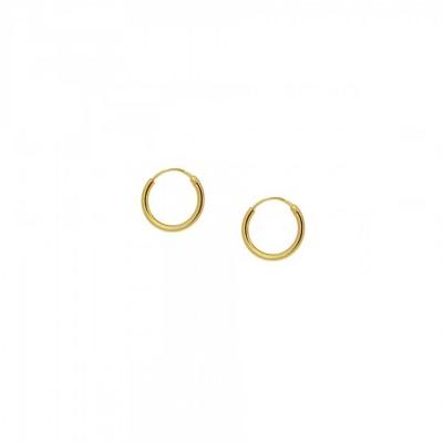 Pendientes aro 10mm plata bañada en oro