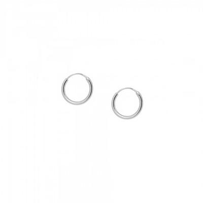 Pendientes aro 12mm en plata