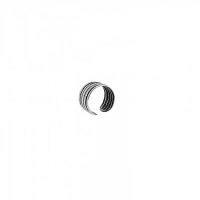 Pendientes ear cuff étnico rayas en plata Unidad
