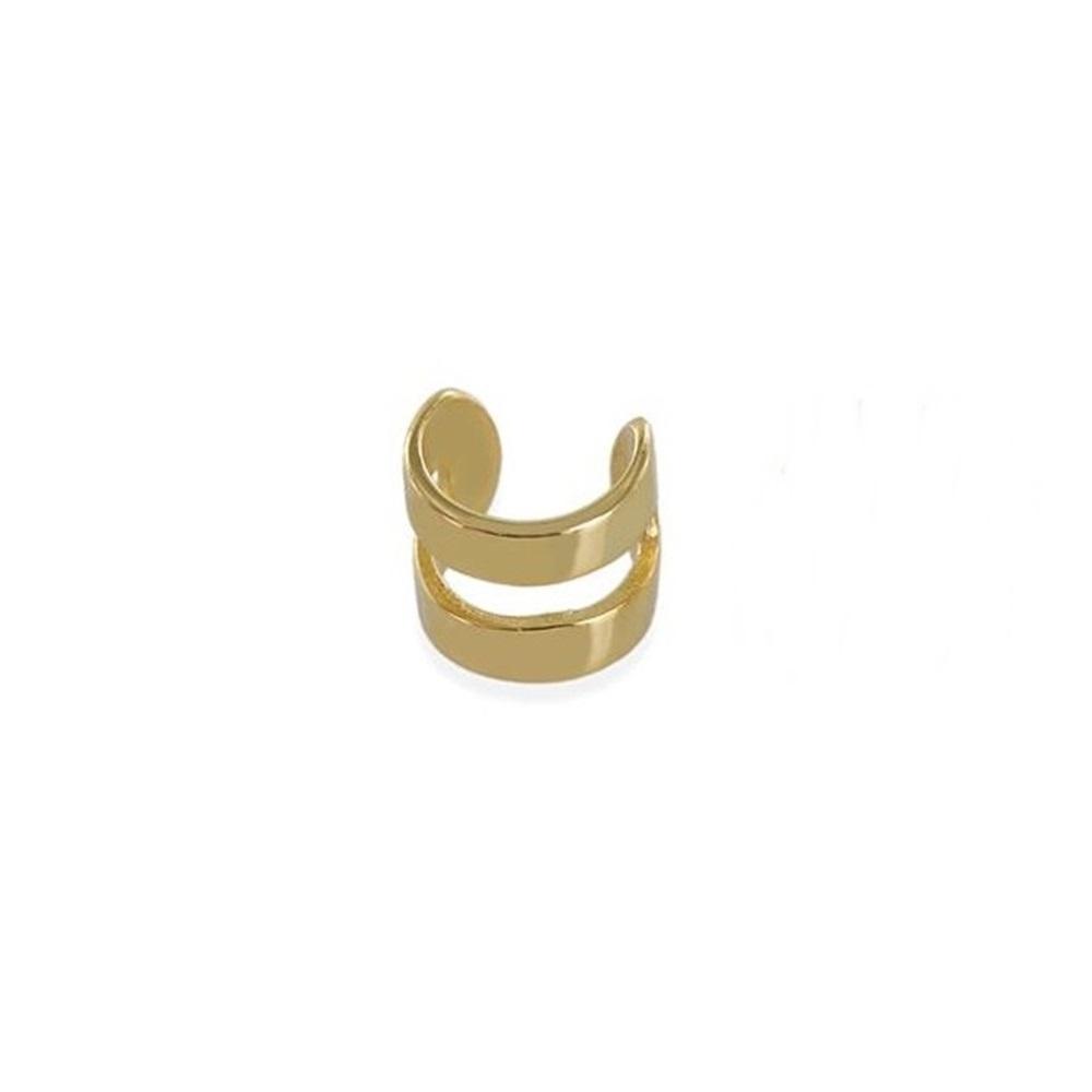Pendientes ear cuff 2barras anchas plata bañada en oro Unidad