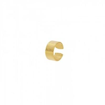 Pendientes ear cuff 6 líneas plata bañada en oro Unidad
