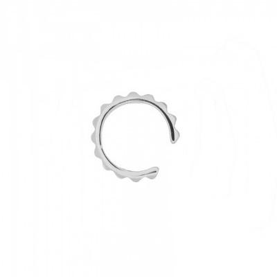 Pendientes ear cuff sierra en plata Unidad