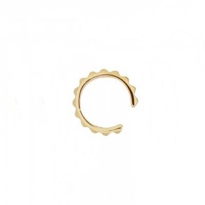 Pendientes ear cuff sierra plata bañada en oro Unidad