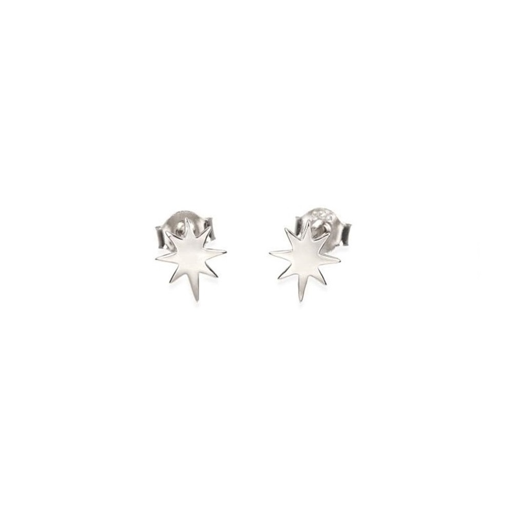 Pendientes estrella polar mini en plata