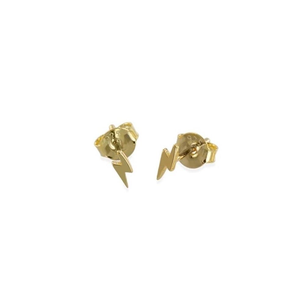 Pendientes rayo mini plata bañada en oro