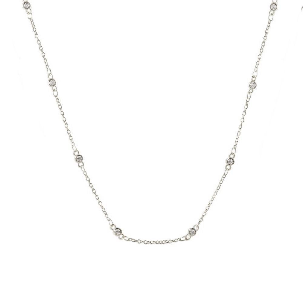 Collar choker con zirconitas en plata