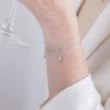 Pulsera con zirconita y pulsera estrella polar con zirconitas en plata