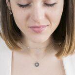 Collar choker con zirconita y collar estrella polar con zirconita en plata