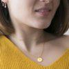 Collar choker con zirconitas y collar estrella polar con zirconita plata bañada en oro