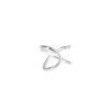 Pendientes ear cuff 2 barras cruzadas en plata Unidad
