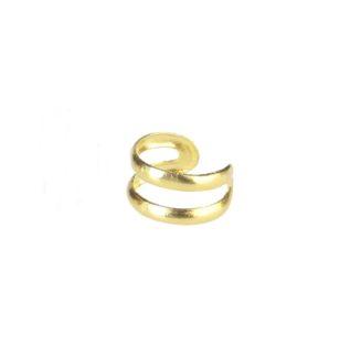 Pendientes ear cuff liso 2barras plata bañada en oro Unidad