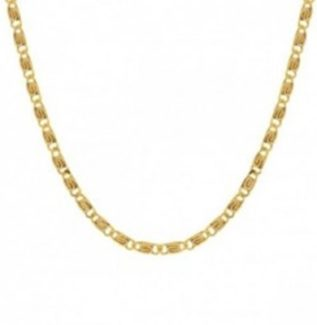 Collar choker cadena caracol plata bañada en oro