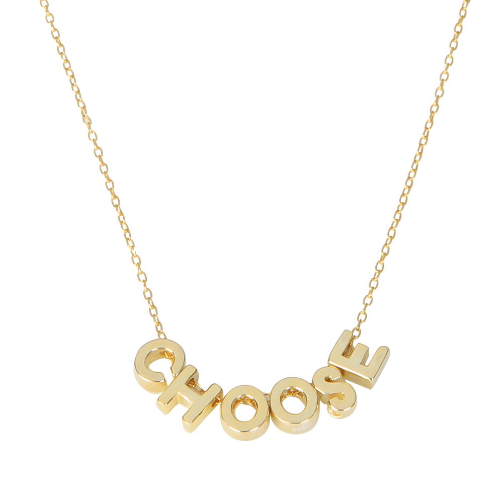 Collar varias iniciales plata bañada en oro